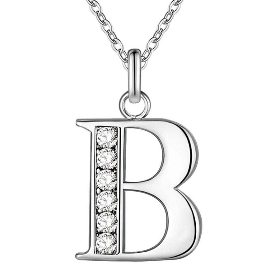 Little Letters CZ Accented Initials Necklace