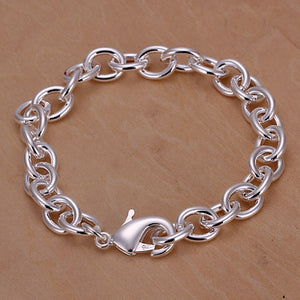 ON SALE - Basic Oval Belcher Link Sterling Silver Bracelet