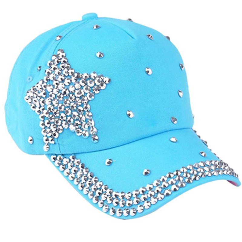 Be Dazzling Silver Studded Baseball Hat