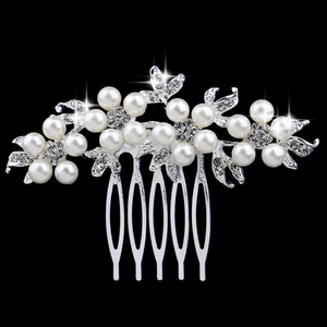 Beaded Beauty Crystal Accented Hair Comb