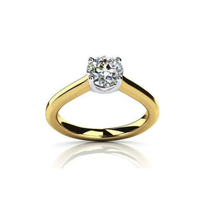 Bella D'ora 1CT Round Cut IOBI Simulated Diamond Solitaire Ring