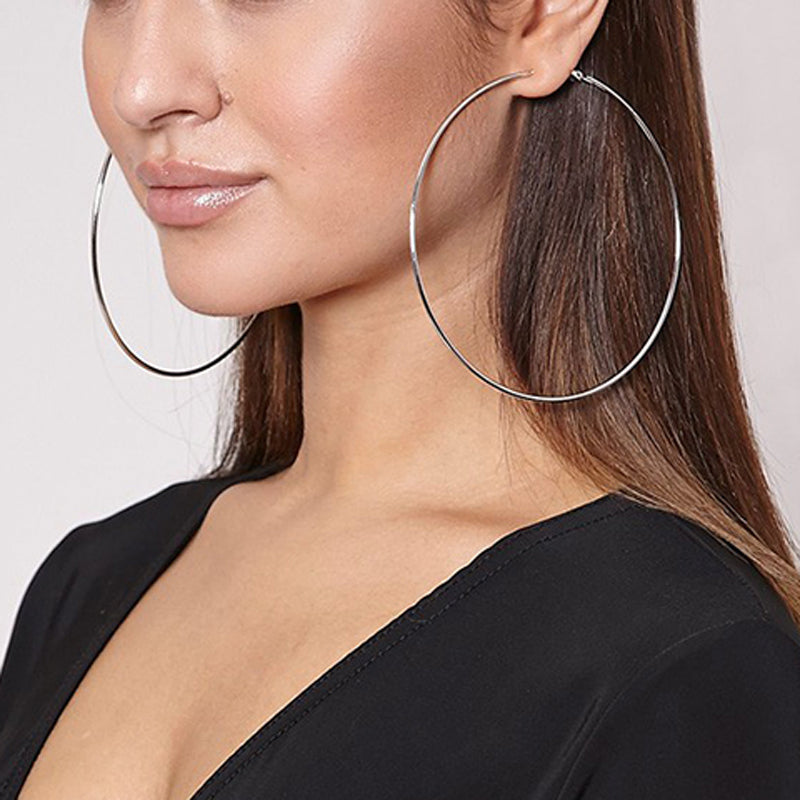 All Drama Oversize Hoop Earrings in Four Sizes