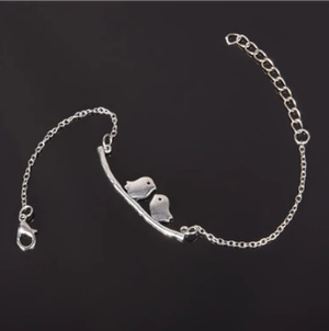 Symbolic Silver Bracelets Love, Bird, Lips, Heart, Horse, Wing, Owl - Choose Your Style Unisex