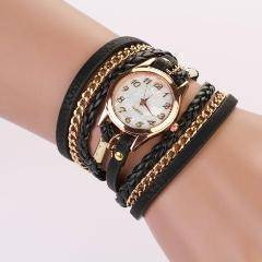 Night Time Leather Wrap Watch