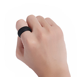 ON SALE - Black Silicone Band Ring for Men or Women
