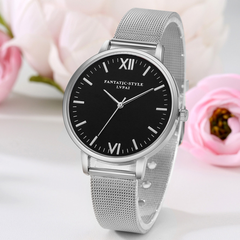 ON SALE - Most Luxurious Black and Mesh Band Watch