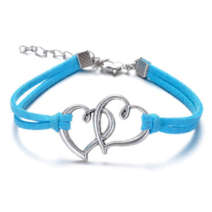ON SALE - Sweet Hearts Suede Friendship Bracelet in Eight Colors