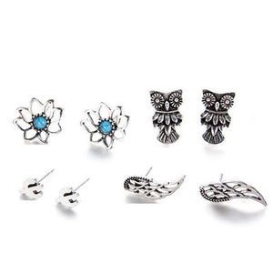 ON SALE - Mix & Match Four Piece Naturals Stud Earring Ensemble