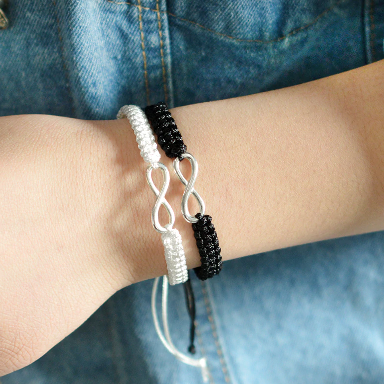 Braided Infinity Adjustable Bracelet