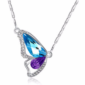 ON SALE - Wondrous Wings Crystal Butterfly Necklace ~ In Ten Colors