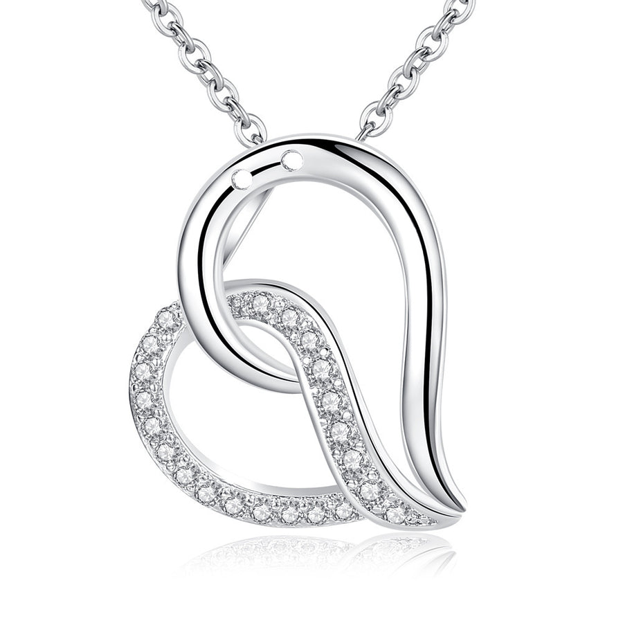 ON SALE - Sentimental Heart CZ Pendant Necklace