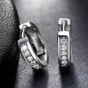 ON SALE - Diamond Sparkle CZ Huggie Hoop Earrings