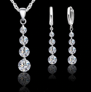 ON SALE - Celestial IOBI Crystals Necklace and Earrings Set