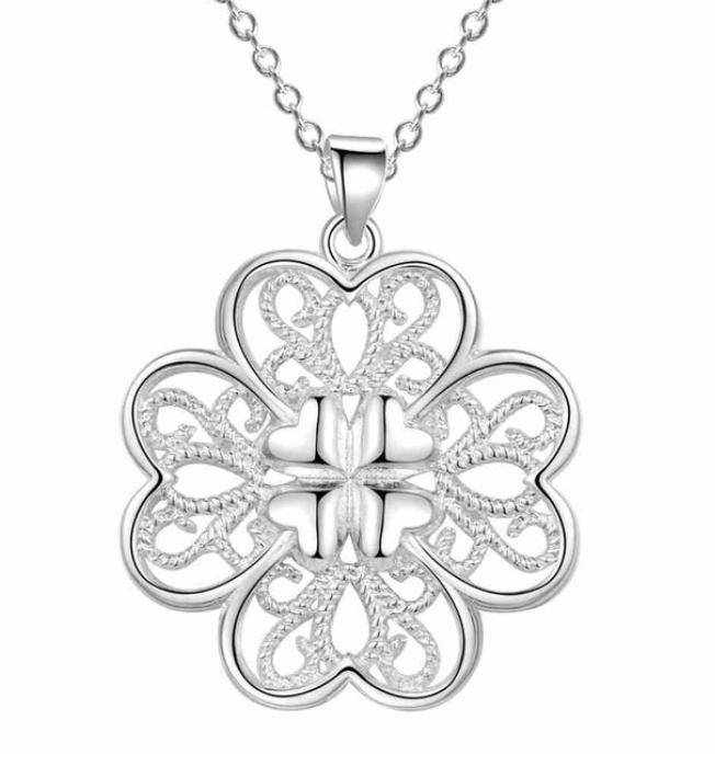 ON SALE - Celtic Hearts Sterling Silver Necklace and Earrings Set