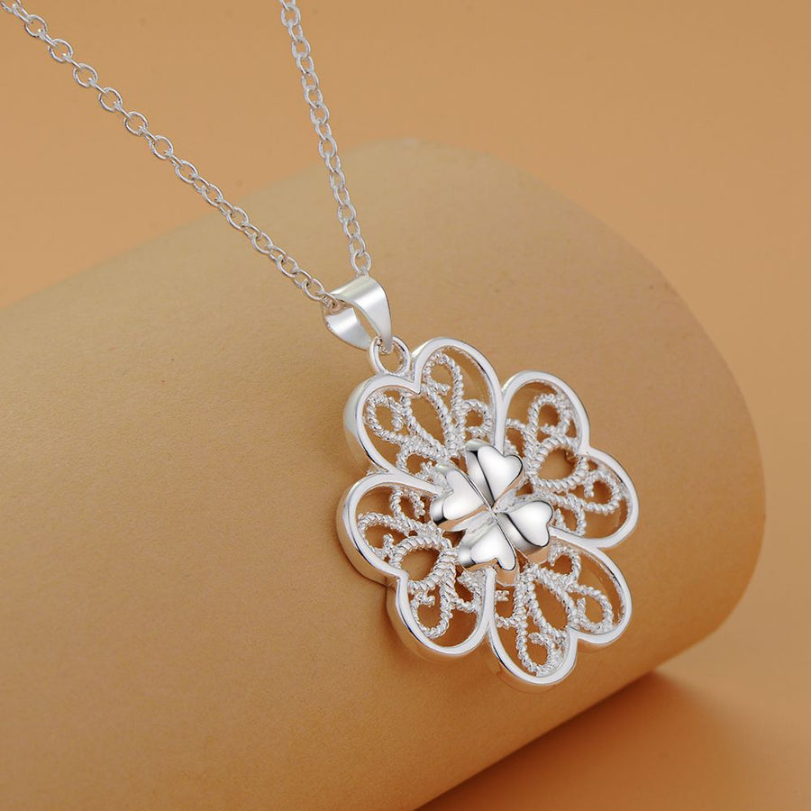 ON SALE - Celtic Hearts Sterling Silver Necklace