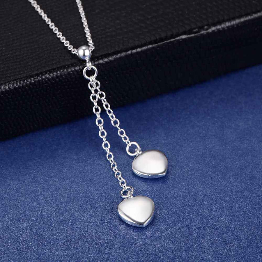 Chains of Love Silver Necklace and Earrings Set