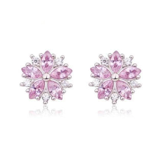 Cherry Blossoms Cubic Zirconia Earrings