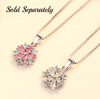 Image of ON SALE - Azalea Blossoms Cubic Zirconia Necklace
