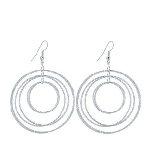 ON SALE - Dangling Circles Earrings in Gold or Silver