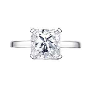 Indira 3CT Princess Cut Solitaire IOBI Simulated Diamond Ring For Woman