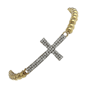 ON SALE - Crystal Cross Stretch Bracelet