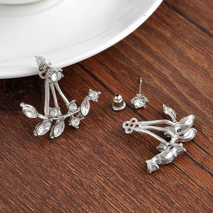Crystal Leaves Stud Earrings & Jacket In Three Colors