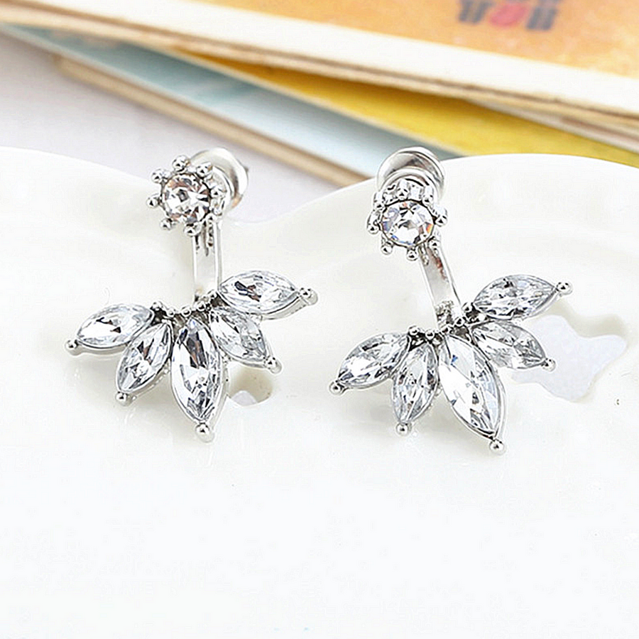 Crystal Floral Stud Earrings & Jacket
