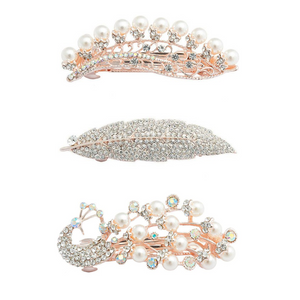 Elegance Crystal and Rhinestone Hair Clip Barrettes ~ Choose your style!