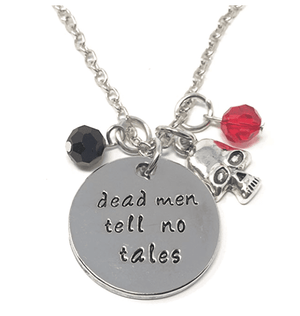 "ON SALE - ""Dead Men Tell No Tales"" Pirate Stamped Necklace"