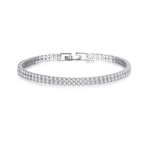 Double Luxe 2mm Swiss CZ Tennis Bracelet