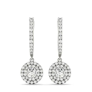 Lanah 1CT Round Halo IOBI Simulated Diamond Earrings