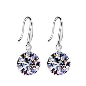 CLEARANCE - Naked Drill Crystal Earrings In Silver