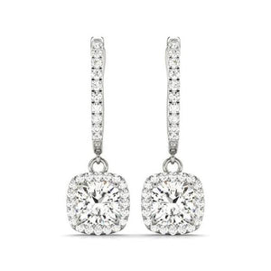 Dulcie .50CT Cushion Cut Halo IOBI Simulated Diamond Earrings