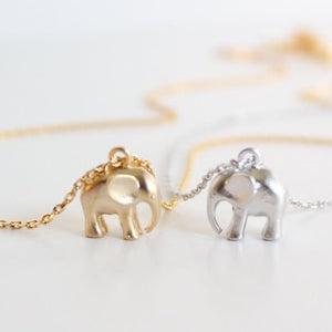 14K Gold Tiniest Elephant Pendant Necklace for Woman