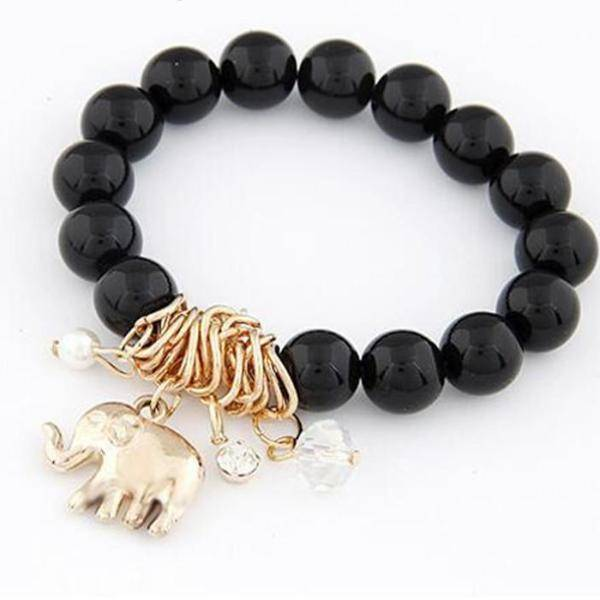 Feshionn IOBI bracelets Get All 3 - Discounted Lucky Elephant Charm Bead Bracelet - Choose Your Color
