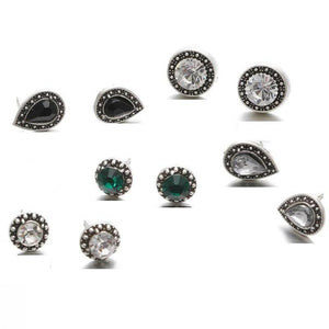 ON SALE - Mix & Match Marcasite Five Piece Earring Ensemble
