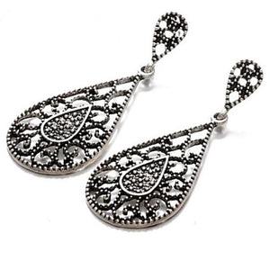 ON SALE - Milgrain Tear Drop Earrings