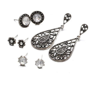 ON SALE - Mix & Match Milgrain Four Piece Earring Ensemble