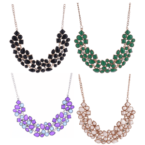Fab Form Crystal Collar Necklace - In Four Colors