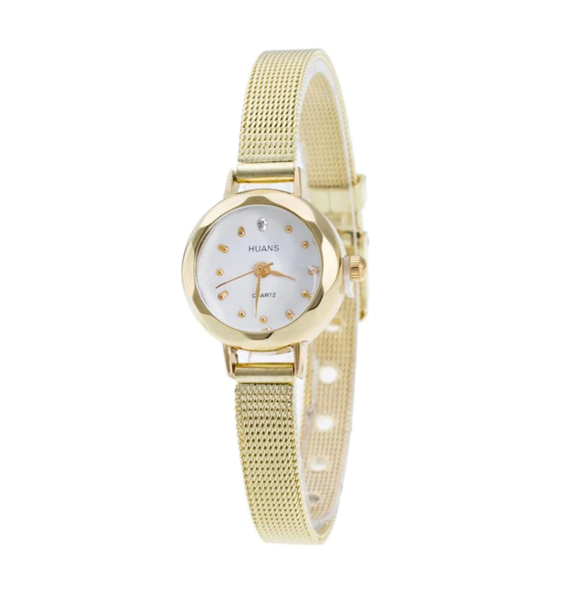 ON SALE - Facets of Time Thin Mesh Band Watch