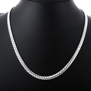 ON SALE - 20 inch Fancy Edged Herringbone Sterling Silver Necklace