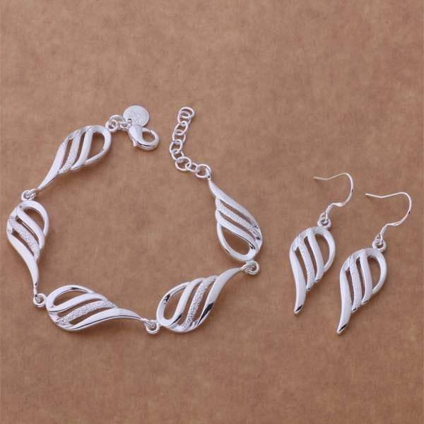Wings Bracelet & Earrings Set