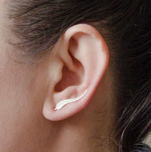 Fine Feathers Ear Climbers Earrings