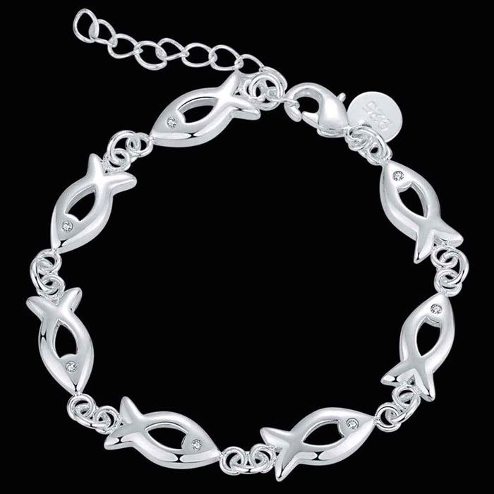 Fish Links Silver Bracelet