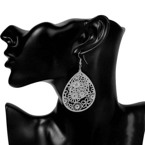 ON SALE - Dangling Floral Drop Earrings in Gold or Silver