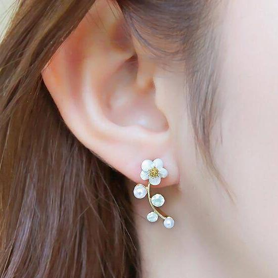 Floral Vines Ear Climbers