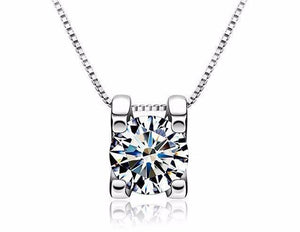 FREE GIFT - When You Buy Naked Swiss CZ Solitaire Necklace Receive FREE Pair of Naked IOBI Crystals Drill Earrings