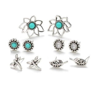 ON SALE - Mix & Match Garden Five Piece Earring Ensemble