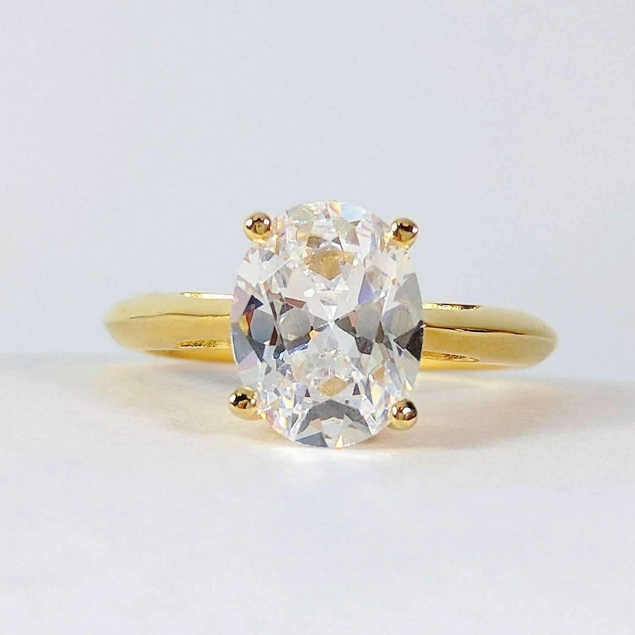 9196aa818 ON SALE - Gia D'ora 2CT Oval Solitaire IOBI Simulated Diamond Ring