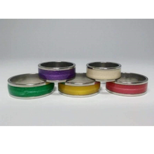 Glossy Colored Enamel Band Ring 5mm ~ 5 Fabulous Colors to Choose